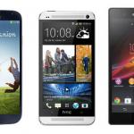 Samsung Galaxy S4 vs. HTC One vs. Sony Xperia Z